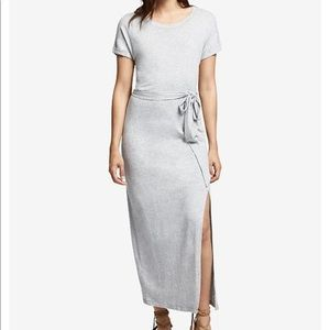 NWOT Sanctuary Maxi Slit Short Sleeve Tie Dress